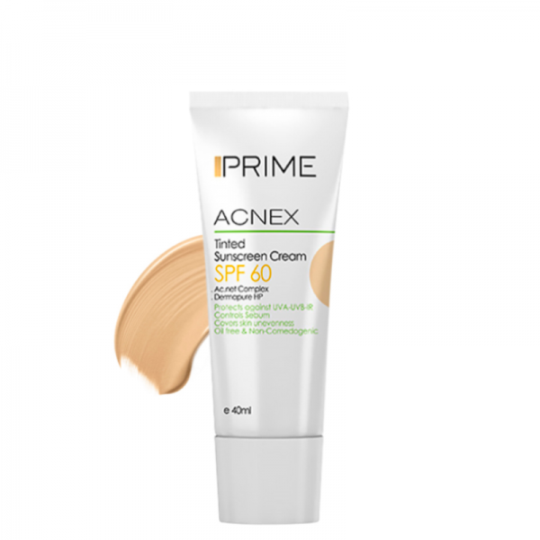 Prime Acnex Free Oil Sunscreen Cream SPF60 40ml Light Beige