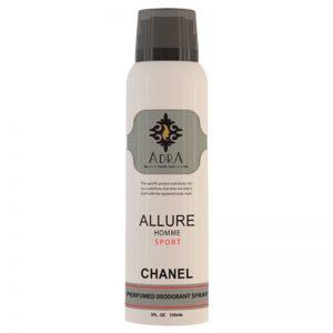 اسپری دئو دورانت مردانه آدرا مدل Chanel Allure حجم 150میل
