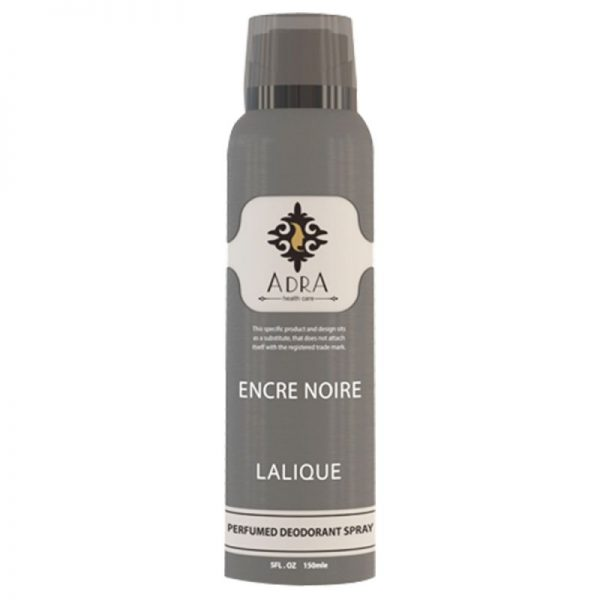 اسپری دئو دورانت مردانه آدرا مدل Lalique Encre Noire حجم 150میل