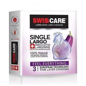 کاندوم سوئیس کر مدل Largo بسته 3 عددی