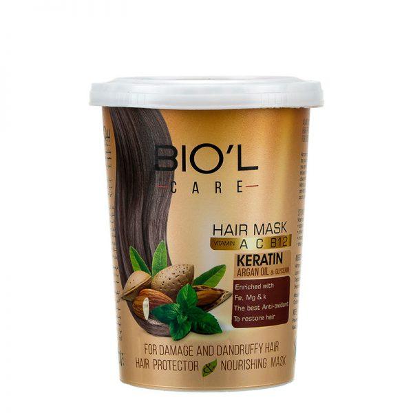 ماسک مو تغذیه کننده بیول حاوی عصاره بادام و نعنا حجم 500 میل