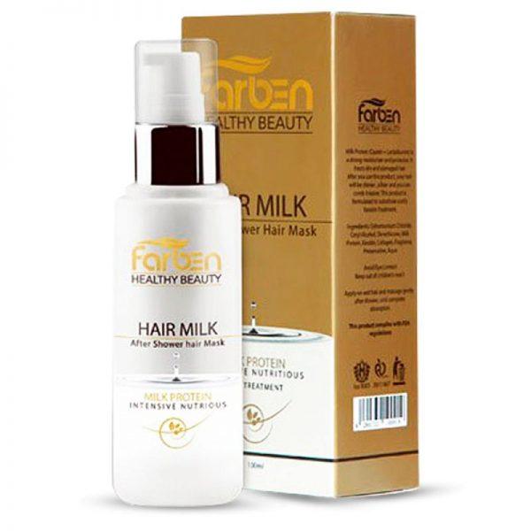 شیر موی فاربن مغذی و ترمیم کننده موهای خشک و آسیب دیده بدون آبکشی 100 میل