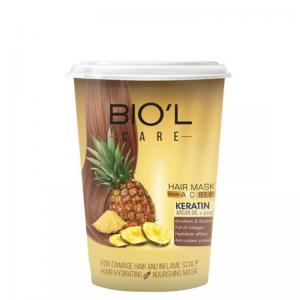 ماسک مو تغذیه کننده بیول حاوی عصاره آناناس مخصوص موهای آسيب ديده حجم 500 ميل