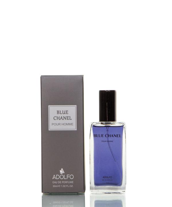 عطر جیبی مردانه آدولفو Adolfo مدل Blue chanel حجم 30 میلی لیتر