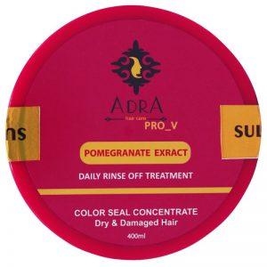 ماسک مو بدون سولفات آدرا حاوی عصاره انار مناسب موهای خشک و آسیب دیده حجم 400 میل